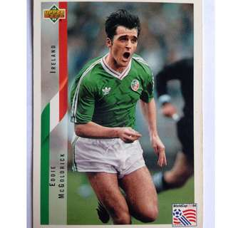 Eddie McGoldrick (Ireland) Soccer Football Card #213 - 1994 Upper Deck World Cup USA '94