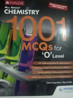 All about chemistry 1001 MCQS O'Levels