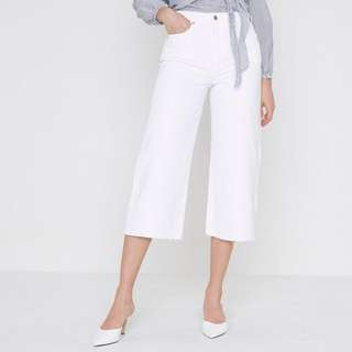 White Culotte Pants