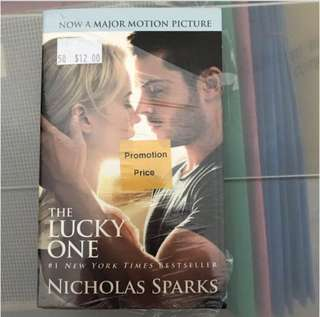 [$5 mailed] The Lucky One- Nicholas Sparks