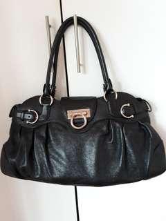 Authentic Salvatore Ferragamo Black Leather Bag