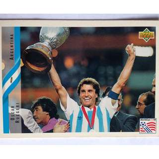 Oscar Ruggeri (Argentia) Soccer Football Card #231 - 1994 Upper Deck World Cup USA '94