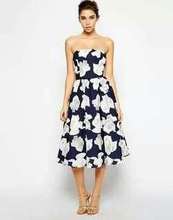 Odella Floral Tube Dress