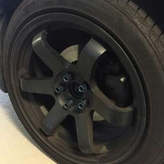 17 inch Te37 rims and tyres