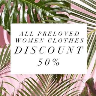 Discount 50% all preloved women clothes