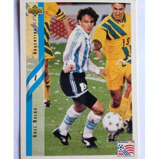 Abel Balbo (Argentina) Soccer Football Card #233 - 1994 Upper Deck World Cup USA '94