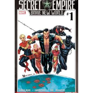 Secret Empire: Brave New World #1 - #5 (Marvel Comics, Avengers, Infinity Gauntlet, Thane, X-Men, Guardian of the Galaxy, Captain America, Hydra)