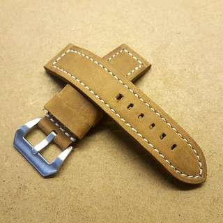 Used 24mm/24mm BOB Brown Leather Strap