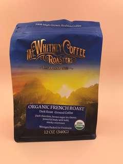 美國直送 MT Whitney Coffee Roasters - Organic - French Roast (Dark Roast)Ground Coffee (12oz , 340g)