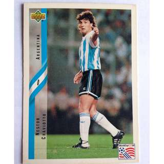 Nestor Craviotto (Argentina) Soccer Football Card #235 - 1994 Upper Deck World Cup USA '94