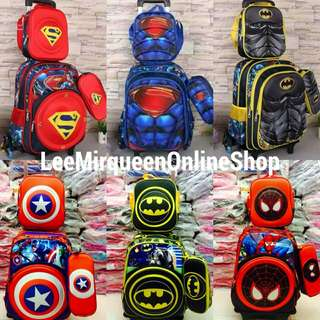 3 in 1 Detachable Superhero Trolley bag