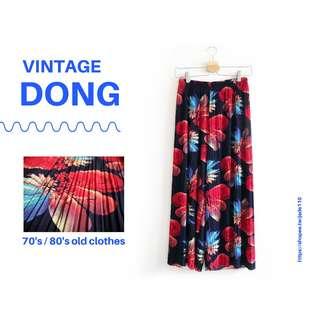 | 咚 咚 Vintage |日本古著- 幻石煙花系列-涼感寬褲