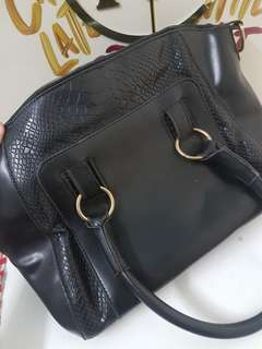 Black Top Handle Bag