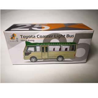 Tiny 25 綠色小巴 初版 何文田 Toyota Coaster 微影