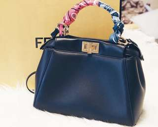 Fendi Peekaboo Mini Black lambskin with gold hardware