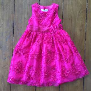 Girls Fuschia Party Dress