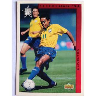 Elivelton (Brazil) Soccer Football Card #281 - 1994 Upper Deck World Cup USA '94