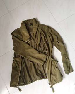 Khaki Waterfall Parka