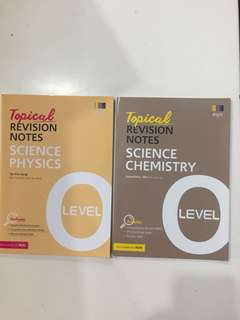O Level Topical Revision Notes physics and chemistry