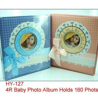 4R Baby Photo Album- Holds 160 Photos (w/ 3 Sheets Adhesive)