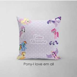 🚚 CUSTOM CUSHION COVER + minky my little pony
