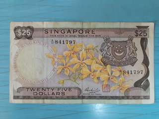 $25 old orchid notes