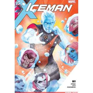 Iceman #1 & #2 (Marvel Comics, Avengers, Infinity Gauntlet, X-Men, Wolverine, Magneto, Guardian of the Galaxy)