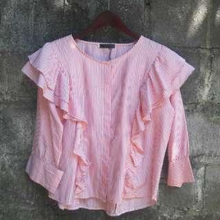 Korean Ruffle Shirt