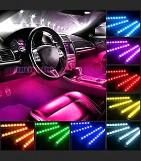 4 strips PnP Car multi coloured led full set with remote