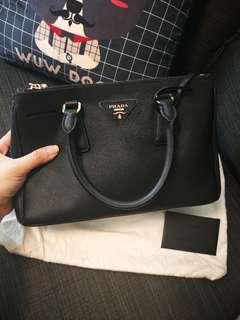 Saffiano + Vernic ladies handbag