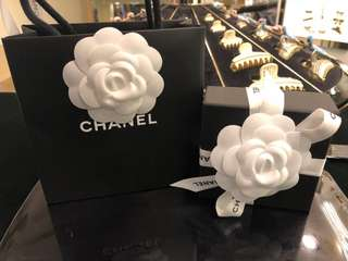 Chanel 珍珠水晶耳環