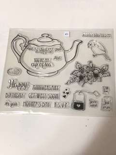 You're my cup of tea clear stamp