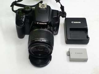 canon 1000d w 18 55mm is lens live view