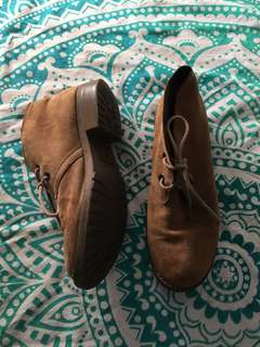 Windsor smith brown leather desert boots
