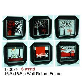 16.5x16.5 inch Wall Picture Frame (6 Assorted Designs)