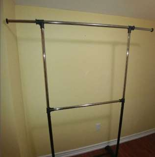 double clothing rack