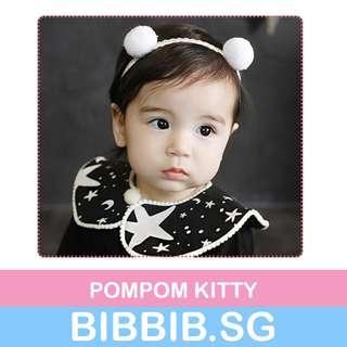 Baby Headbands - Pompom Kitty