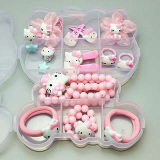 *FREE DELIVERY to WM only / Ready stock* Kids Hello Kitty accessories set each with box as shown in design/color. Free delivery is applied for this item.