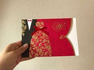 婚禮 結婚卡套 12張 配12個信封 適合小婚禮