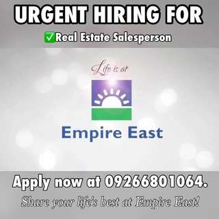 Very Urgent! Hiring for Real Estate Specialist