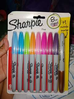 Sharpie Fine 8 ct + 1 metallic marker