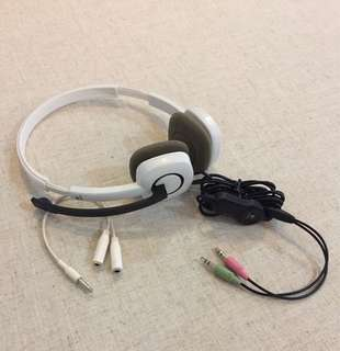 Logitech H150 White  Headphones with Stereo & Audio Extended Cable