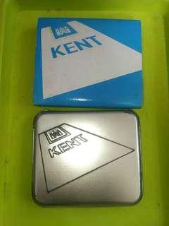 健牌香烟 中古 懷舊 細鐵盒 - KENT 約198x - 199x 年代