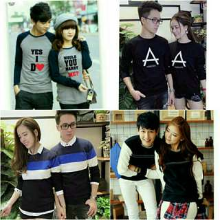 Long sleeve tee shirt/tee shirt couple/men 's fashion