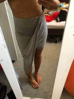 Rose bullet grey wrap skirt