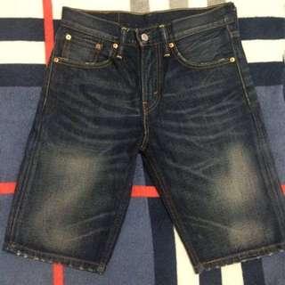 🚚 LEVI'S 508 余文樂 水洗刷色短褲 W28 LEVIS 短牛 牛仔褲