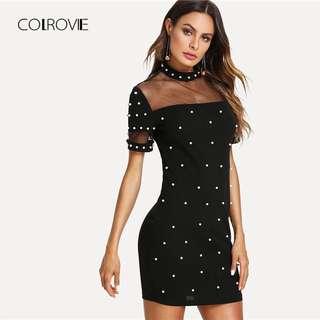 (PO)bodycon pearl dress..