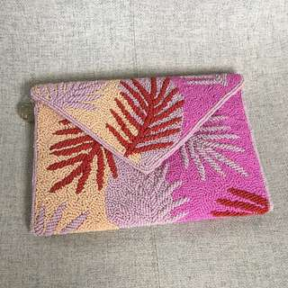 From St Xavier beaded shoulder bag pink
