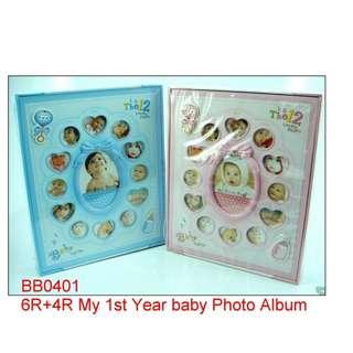 6R + 4R My 1st Year Baby Photo Album