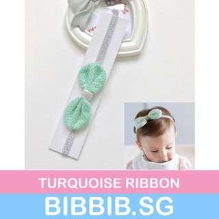 Baby Headbands - Turquoise Ribbon
